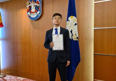 Saruulbuyan, one of the top scorer of  Mongolian General Entrance Exam